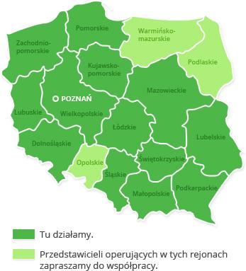 mapa działalności